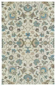 Rug Goddess has many affordable 10' x 14' area rugs. Bring a soft calming color palette of ivory and blue into your room. This Helena area rug comes in 7 sizes including a room size 10 x 14 rug, a 4 x 6 rug, and even a rug runner.