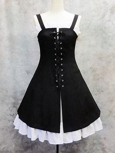 Lace-Up Frilled Jumper / See more at http://www.cdjapan.co.jp/apparel/new_arrival.html?brand=MMM #gothic #lolita fashion