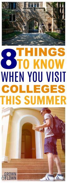 If you're getting ready to visit college campuses with your teen this summer, then you need to know these 8 things first. These tips and tricks to make college campus visits a success will help you accomplish everything on your checklist while you're ther College Campus, Online College, College Hacks, Education College, College Life, School's Out For Summer, During The Summer, Devry University, College Search