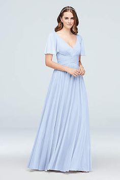 dbff777eeca6d View Short Sleeves V Neck Bridesmaid Dress at David s Bridal Bridal Party  Dresses