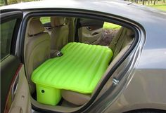 this inflatable car mattress = the answer to your prayers.