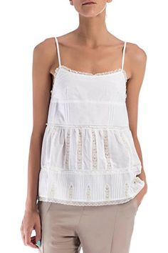 40% DE DESCUENTO!! Blusa de tirantes de TWIN-SET,  70% algodón, 30% seda.