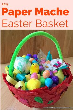 Easy Paper Mache Easter Basket