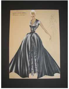 #Vintage 1950's Italian #Fashion Illustration-Koefia Roma-No. 573 #art