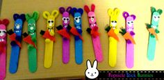 Popsicle Stick Bunnies
