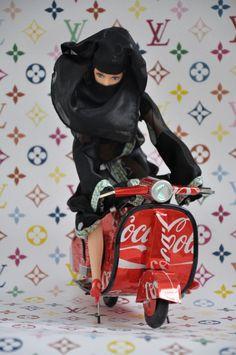 """""""Munika on Coke"""" by Hassan Hajjaj"""