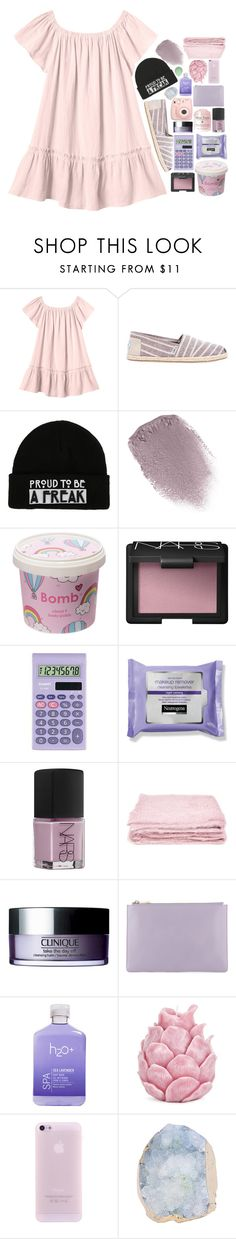 """between the sinners and the saints"" by extraterrestrial-whispers ❤ liked on Polyvore featuring Rebecca Taylor, TOMS, Obsessive Compulsive Cosmetics, Cloud 9, NARS Cosmetics, Casio, abcDNA, Clinique, Fujifilm and H2O+"