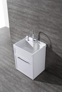 Daisy White Vanity-style Utility Sink with Faucet by New Waves