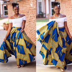 Get Gorgeous with Trend Setting Ankara Styles - Wedding Digest Naija African Print Skirt, African Print Dresses, African Fabric, African Dress, African Prints, African Attire, African Wear, African Women, African Style
