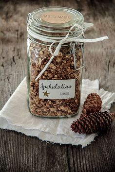 ich will dir noch schnell die (wahrscheinlich) letzte last minute geschenksidee  für weihnachten zeigen. der mann liebt müsli und granola....