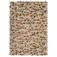 Wool+and+art+silk+rug+with+a+branch+motif.+Hand-tufted+in+India.+  Product:+RugConstruction+Material:+New+Zealand...