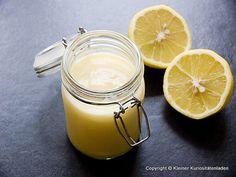 Kleiner Kuriositätenladen: Lemon Curd Lemon Curd, Chutney, Allrecipes, Glass Of Milk, Recipies, Cream, Drinks, Cooking, Desserts