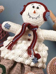 Snowman Towel Topper free pattern