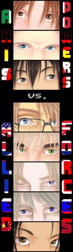 Hetalia - Axis vs. Allies by Kumagorochan.deviantart.com on @deviantART