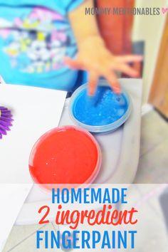 Homemade edible finger paint recipe. Ducky Dish Brush Toddler Art Activity