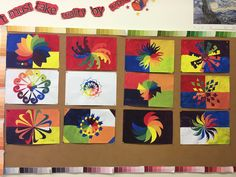 Color wheel - radial symmetry