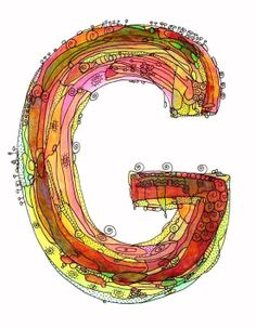 Whimsical letter G funky