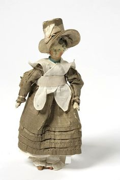 Doll, Pine wood, gesso, paint and varnish, Germany, 1825