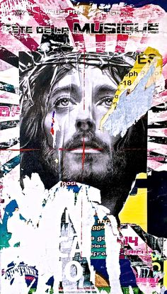 Jesus, Street Art, Pop Art, Collage, Affiche, Jeff Callec