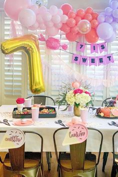 Take a look at this fun candy-themed birthday party! The table settings are wonderful!! See more party ideas and share yours at Catchmyparty.com #catchmyparty #partyideas #candy #candyparty #girlbirthdayparty #cake Girls Birthday Party Themes, Birthday Candy, Girl Birthday, Birthday Parties, Candy Cakes, Best Candy, Candy Party, Birthdays, Table Settings