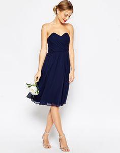 Kleid dunkelblau konfirmation