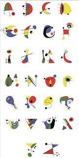 Letters to decorate 2 - - Miro Paintings, Alphabet Art, Joan Miro, Art Plastique, Teaching Art, Typography Design, Collage Art, Art History, Hand Lettering