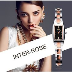 Utilizing timeless pastels, this rectangle women's fashion watch is an instant classic. Also available in silver and rose. #watchesforwomenclassy #luxurywatchesforwomenclassy #fashionwatchesforwomenclassy