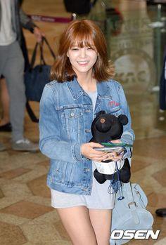 AOA 지민,'곰인형과 함께 비행기 타요'