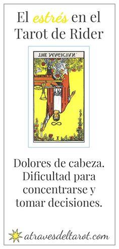 El mago invertido.  tarot Rider waite. Estrés. Más en : http://atravesdeltarot.com/el-estres-visto-desde-el-tarot-de-rider