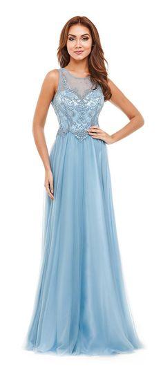 Vestido de festa azul Mais
