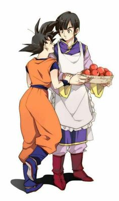 Female Goku and male Chi-Chi