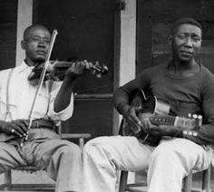 """Muddy Waters in 1943. With Henry """"Son"""" Sims -- Muddy started as a singer in the Son Sims Four in 1933."""