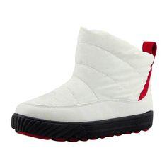 Hee Grand Women Winter Snow Boots Waterproof Boots US 5 White