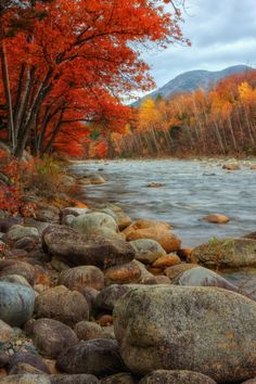 Pemigewasset River, New Hampshire ~ Photo: Vincent James