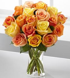 Sun-Drenched Summer Rose Bouquet - 25% off!
