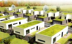Urban Architecture, Sustainable Architecture, Cheap Modular Homes, Earth Bag Homes, Co Housing, Ultra Modern Homes, Interesting Buildings, Modern Exterior, Building Design
