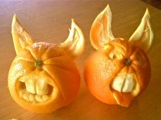 Silly carved oranges ~ by Carl Jones LUV IT