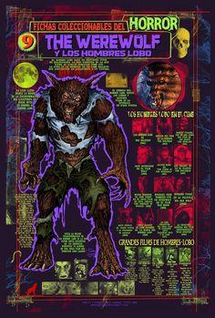 Ficha infográfica homenaje a The Howlling. Dibujos y diseños míos.