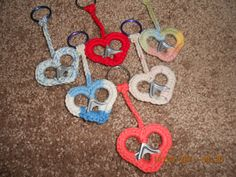 Crochet can tab key rings by stephsyaya on Etsy, $3.00