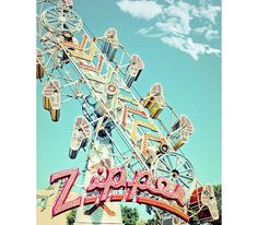 Vintage Carnival/Fair Zipper Ride Photo Print on Etsy