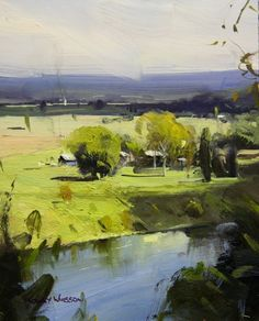 """Hawkesbury Dreaming - NSW"" (09x07), by Colley Whisson"