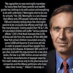 Thank you Robert Kennedy Jr. for shedding light on these troubling vaccines and the money behind them.