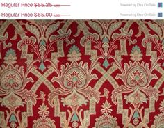 Gorgeous Antique French Fabric Red