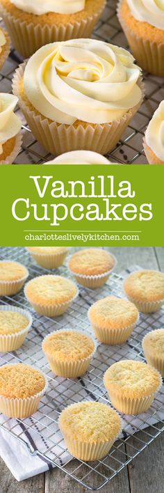 These vanilla cupcakes are so easy to make, simply mix all of the ingredients together and bake. They're perfect for birthdays, cake sales, tea with your friends and any other celebration you can think of.
