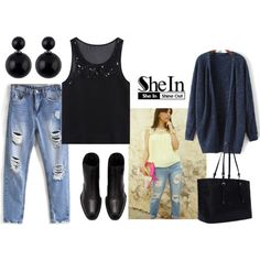 Dressed in 10 Minutes with Sheinside by gabriele-bernhard on Polyvore featuring Black Rivet, Sheinside and shein