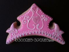 Specializing in exquisite heirloom quality copper cookie cutters designed and formed by artist Eric Border Princess Tiara, Royal Princess, Princess Party, Crown Cookies, Royal Party, Cookies For Kids, Baby Shower Princess, Birthday Cookies, Cookie Designs