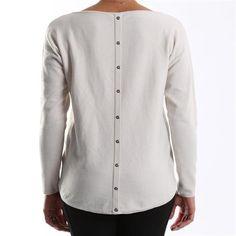 Maglietta retro lungo Street One con bottoni applicati sul retro - € 29,90 | Nico.it - #streetone #knitware #fashion