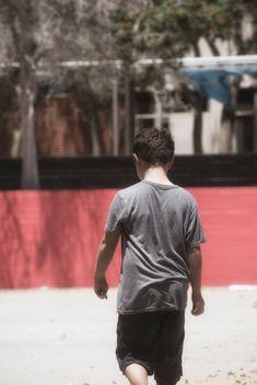 Boy Walking Away