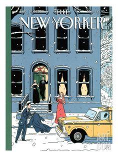 Art.fr - Regular Giclee Print 'The New Yorker Cover - February 10, 1997' par Jean Claude Floc'h