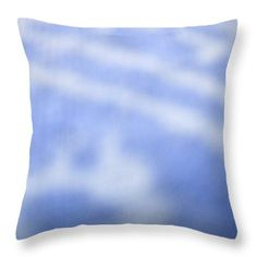 Blue White Background Throw Pillow by Sharon French